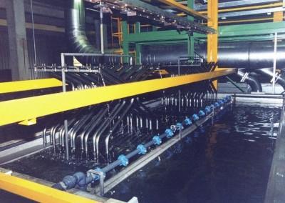 Lavaggio con ultrafiltrato in vasca sistema discontinuo