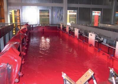 Movimentazione vernice in vasca
